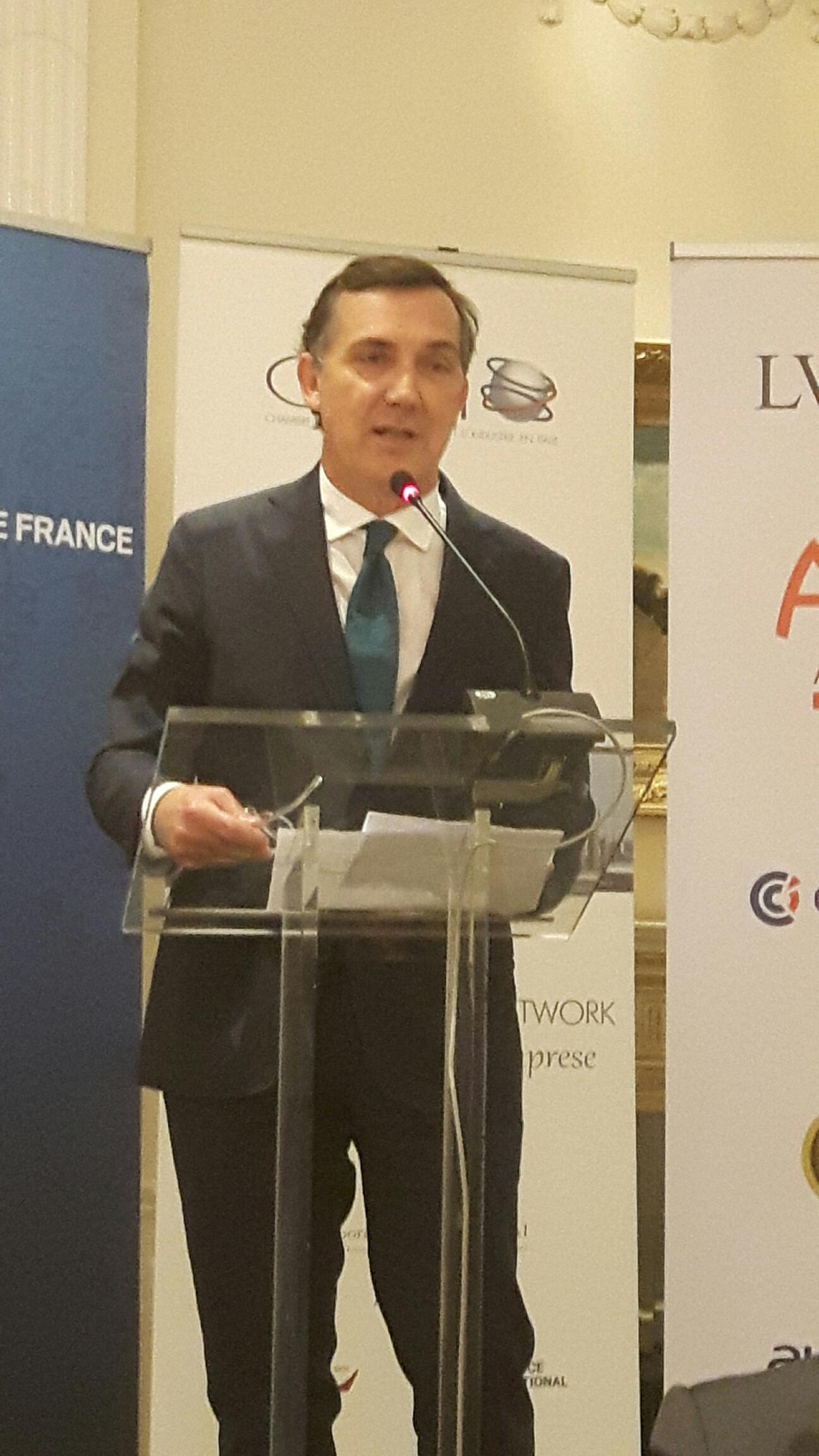 Quattro aziende premiate durante la cena di gala della for Chambre de commerce francaise en italie